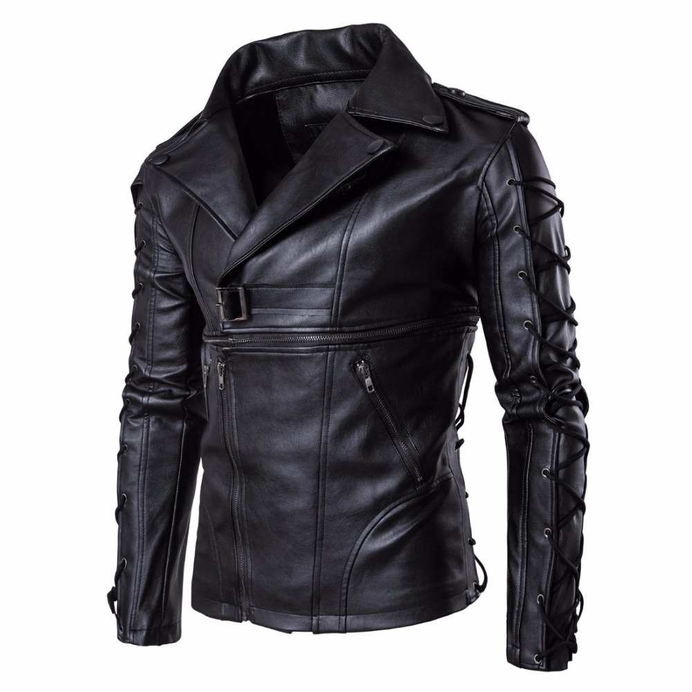 Mens Leather Jackets Fashion Spring Autumn High Quality Motorcycle Bike PU Leather Jackets Homme Casual Coats M 5XL in Jackets from Men 39 s Clothing
