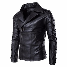 Mens Leather Jackets Fashion Spring Autumn High Quality Motorcycle Bike PU Homme Casual Coats M-5XL
