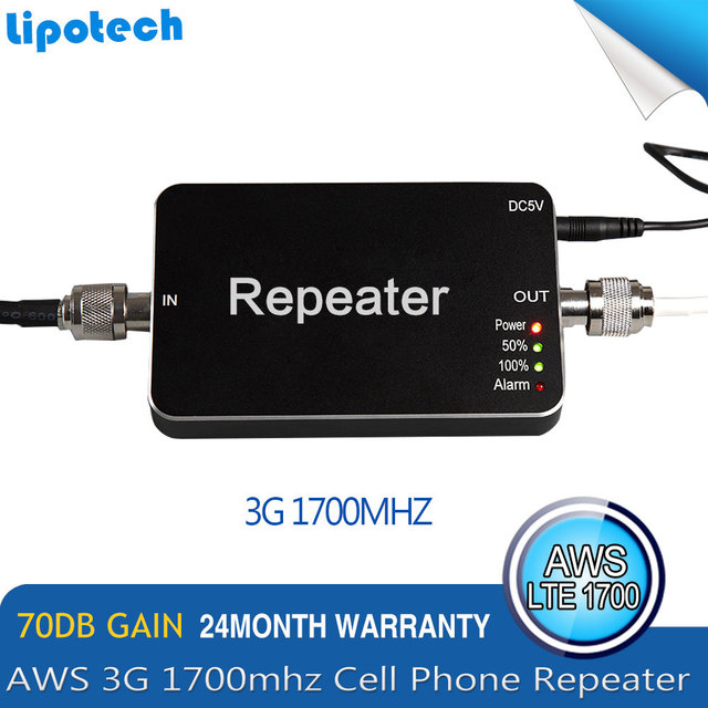 1PC Hot Sell Canada/Colombia/Chile/Mexico AWS1700mhz Smart Cell Phone Signal Repeater Amplifier,4G LTE Singal Booster for Mobile