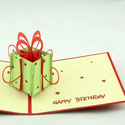 Qubiclife Main Cadeau Danniversaire Bote 3D Carte De Visite Papier Stro Creative Personnel Dans Cartes Et Invitations Maison Jardin Sur