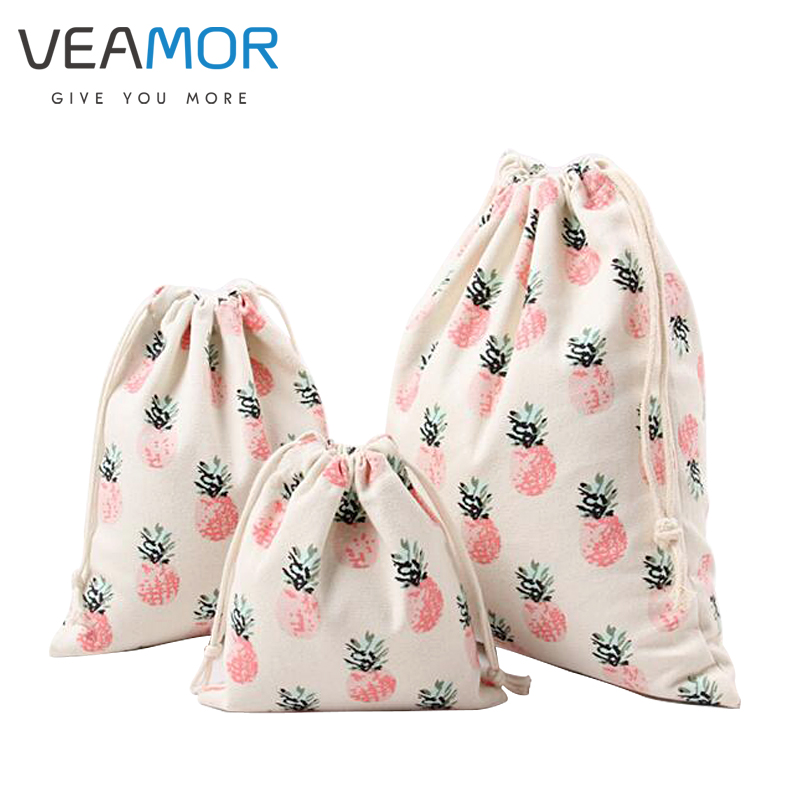 Canvas Drawstring Pouch Party Gift Bag Print Color Dogs Home Organizer Bag Bl B#