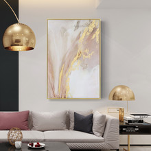 Brightness Gold Warm Color Abstract Oil Painting on Canvas Hand painted Wall Art Pictures For Home Hall caudros decoracion