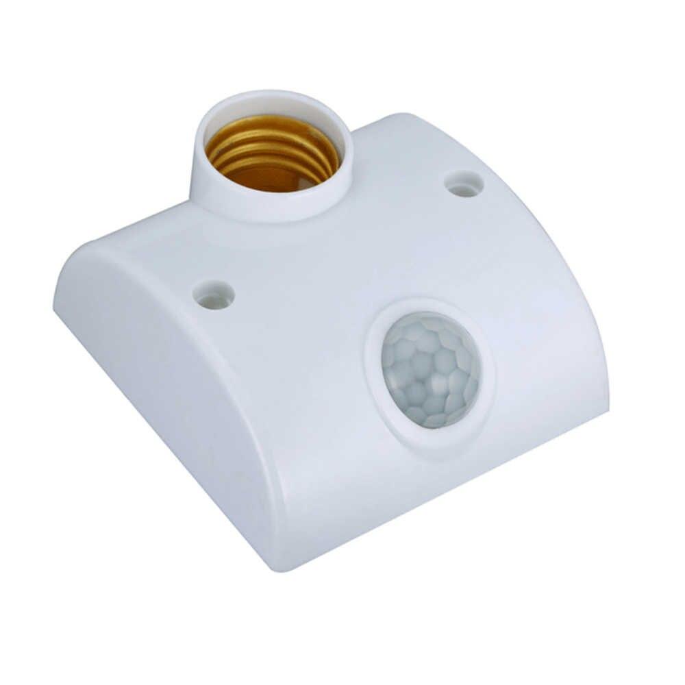 ceiling plate Motion Sensor e27 holder smart socket AC 110V 220V LED Infrared PIR E27 Lamp Bases Bulb Holder lampholders