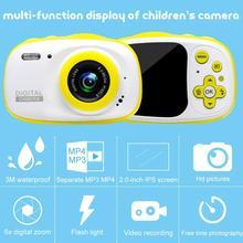 BEESCLOVER Водонепроницаемая Детская цифровая камера мини-видеокамера для детей с поддержкой MP3, MP4 с экраном 2,0 дюйма HD ips r25