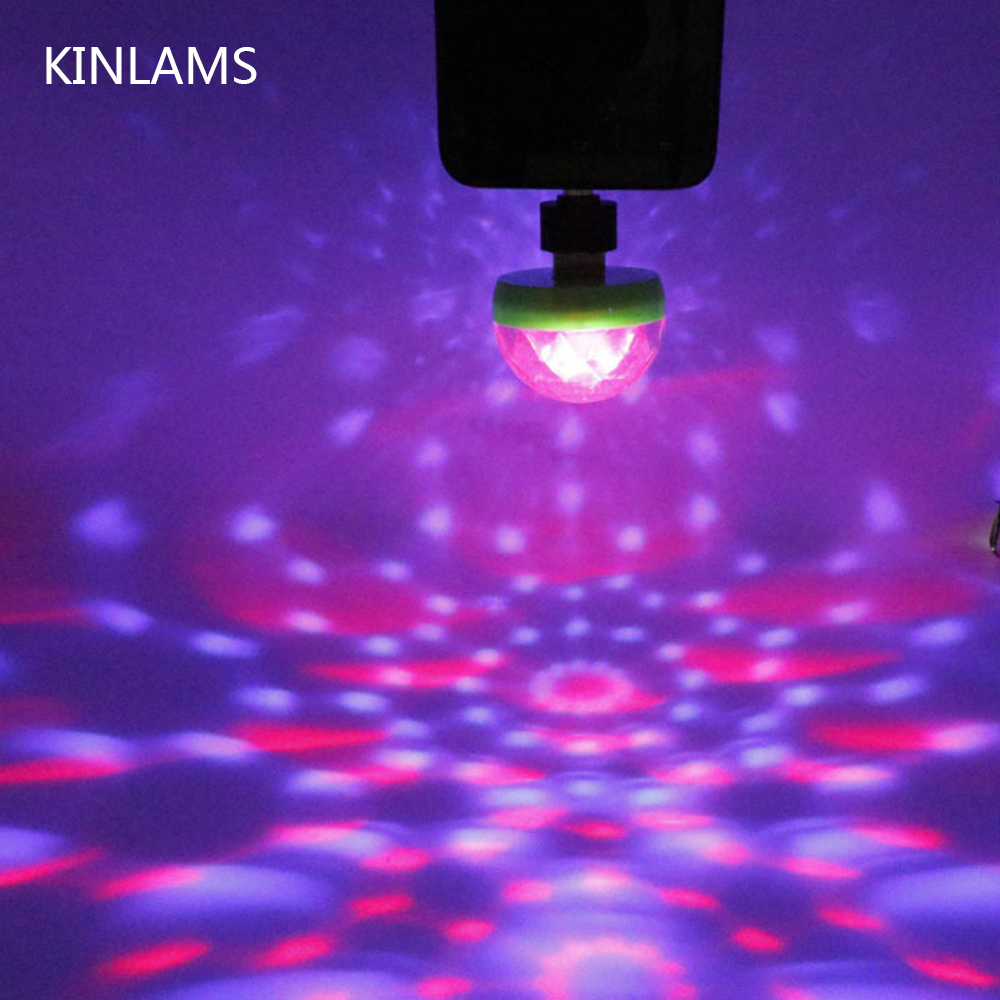 Portable USB Disco Stage Light Home Party Lights Karaoke LED Decorations Colorful KTV DJ Disco Light Lamp With Android Adapter