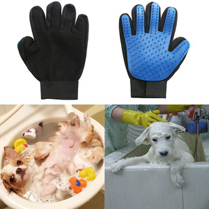 Image 2 - Dog Hair brush Glove Silicone Dog Brush Pet Grooming Glove Remove Hair Brush For Pets Supplies Cleaning Massage Supply
