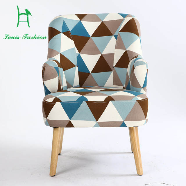 Beautiful Single Person Sofa Chair Recreational Chair The Small Sofa Cloth Art Sofa  Leather Cafe Bedroom Study