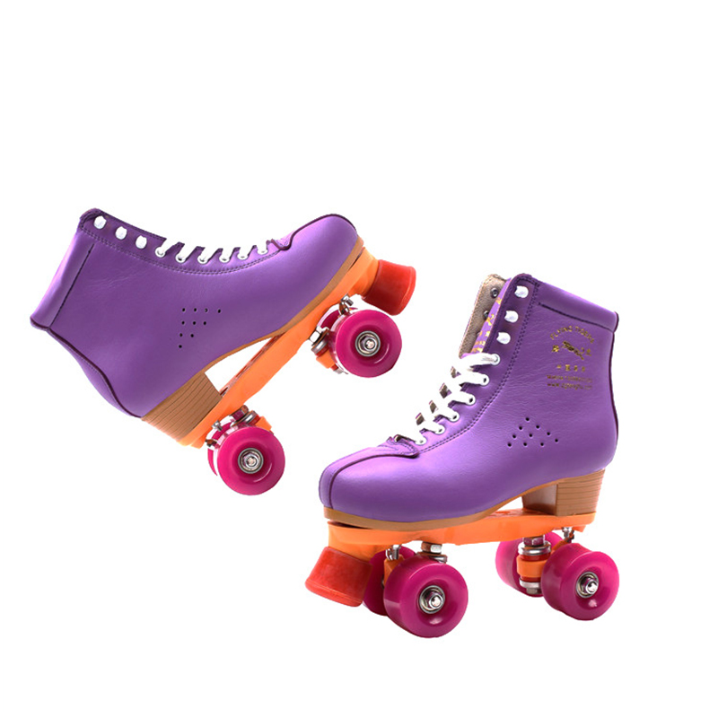 Children Adult Parenting Unisex Two Line Roller Skating Shoes Double Row Skates Kids 4 PU Wheels High Grade Genuine Leather IB56 children adult parenting two line roller shoes skating 4 wheels double row skates patins kids pu wheels adjustable unisex ib42