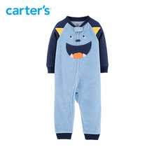 Carter's 1 Piece Monster Fleece Footless Rompers Long sleeve monster ears baby boy jumpsuit autumn winter clothing 15018210