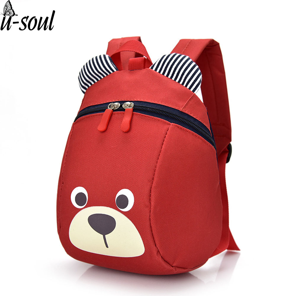 Cute Animal Small School Bags 1-3 Years Old Children Backpacks Bears Pinting School Bag Backpack For Boys and Girls A2291 a suit of chic faux pearl rhinestone leaf necklace and earrings for women