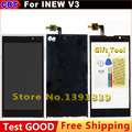 100% New Original INEW V3 touch Screen LCD Display Digitizer Glass For INEW V3 LCD+TP+ frame + Tool + Waterproof packaging