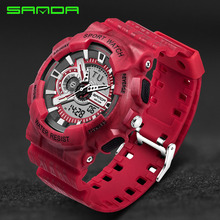 Mens Watches Top Brand Luxury SANDA Digital-watch G Style Military Sport Shock Watches Men LED Quartz Digital Watch reloj hombre цена и фото