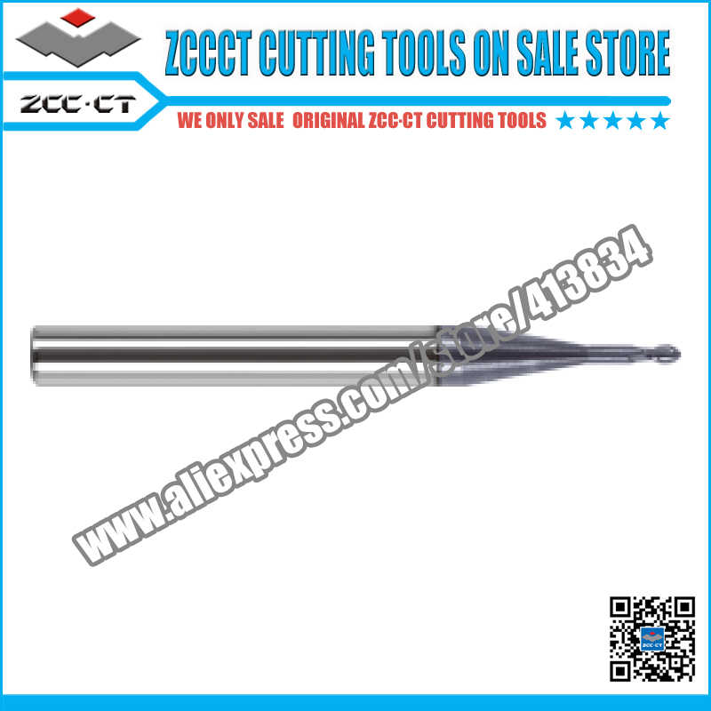 ZCCCT herramientas de corte cortador de fresado Molino de extremo de 2mm y 3mm 1 paquete GM-2BP-R1.0-M12 GM-2BP-R1.5-M12