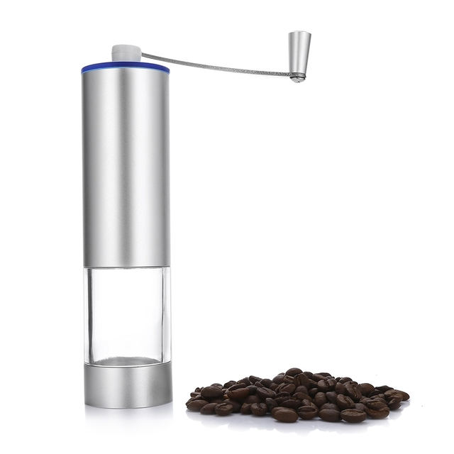 Stainless Steel Coffee Grinder Manual Hand Maker Mill Grinders Portable Bean Machine Kitchen