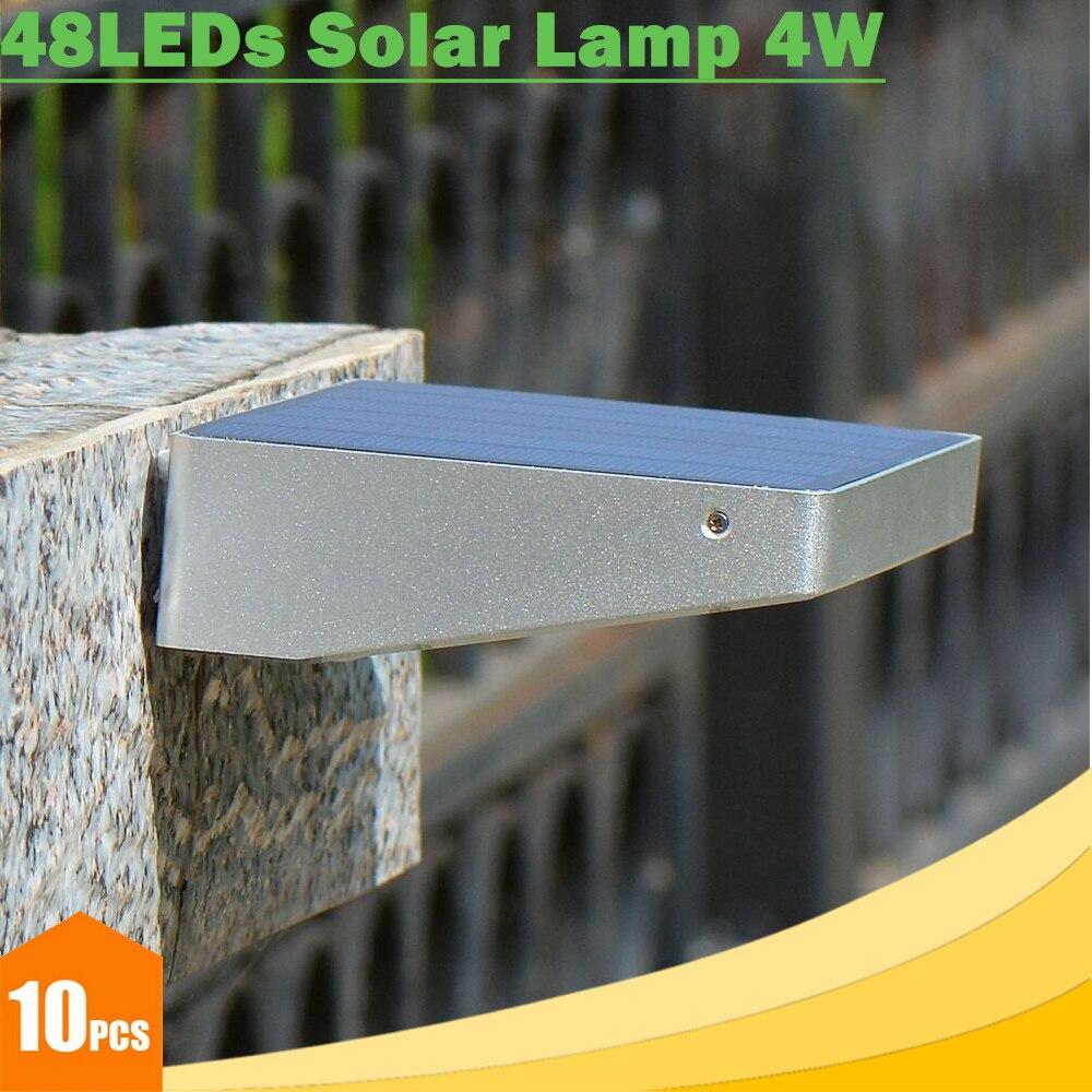 Solar Outdoor Lights No Batteries: 4W Outdoor 48 LEDs Solar Lights Waterproof 4000mAh Battery