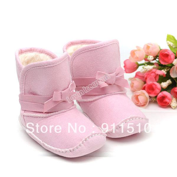 Comercio al por mayor 4 unids/lote Rosa Caliente arranque bebé firstwalker Algodón zapatos zapatillas ENVÍO GRATIS