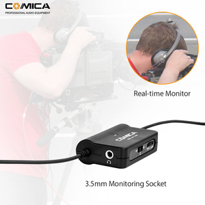 Image 3 - Comica CVM V05 Micrófono de solapa omnidireccional con Clip para cámaras Canon, Nikon, Fuji, iPhone, Samsung, Smartphones