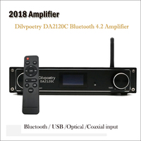 2018 Amplifier Dilvpoetry DA2120C Power Amplifier Bluetooth 4.2 Stereo Digittal Amplifier Home USB Optical Amplifiers Audio Hifi