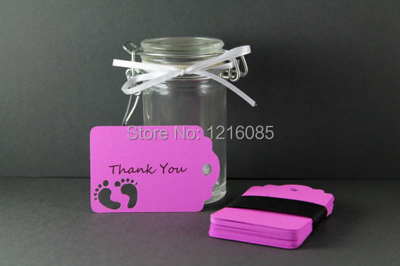 Baby Shower Tags Personalized Girls Shower Favors Die Cut Baby