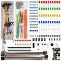 WeiKedz Componentes Electrónicos Kit MB-102 Breadboard, 65 cable de puente para Ar-duino, Raspberry Pi, STM32