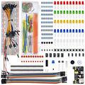 WeiKedz Componentes Eletrônicos Kit MB-102 Placa De Ensaio, 65 jumper para Ar-duino, Raspberry Pi, STM32