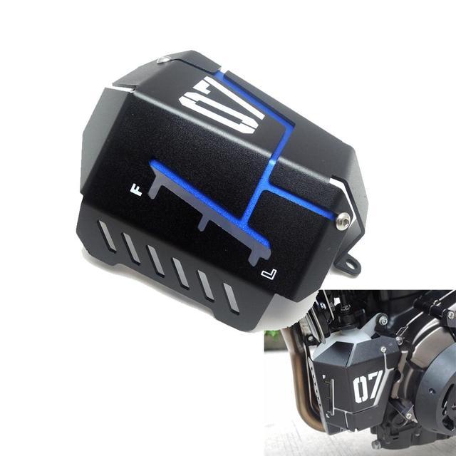KEMiMOTO MT07 FZ07 Refrigerante Tanque de Recuperação que Protege a Tampa Para Yamaha MT-07 FZ-07 MT 07 07 FZ 2014 2015 2016 2017 2018 2019