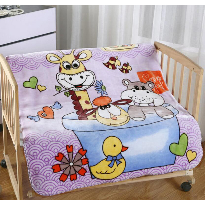 Baby Blanket 2016 New Double Layers Thicken Clouds Blankets Newborn Cartoon Infant Bedding Upscale