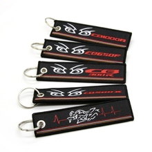 For Honda CB500X CB1000R CB650F CB300R New 2019 Motorcycle Key Chain Woven Key Ring Tag Label Chain Black Car Keychain