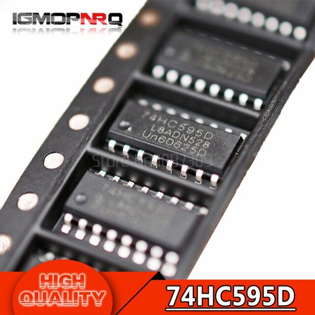 10pcs free shipping 74HC595D 74HC595 SOP-16 Counter Shift Registers 8bit Shiftr new original