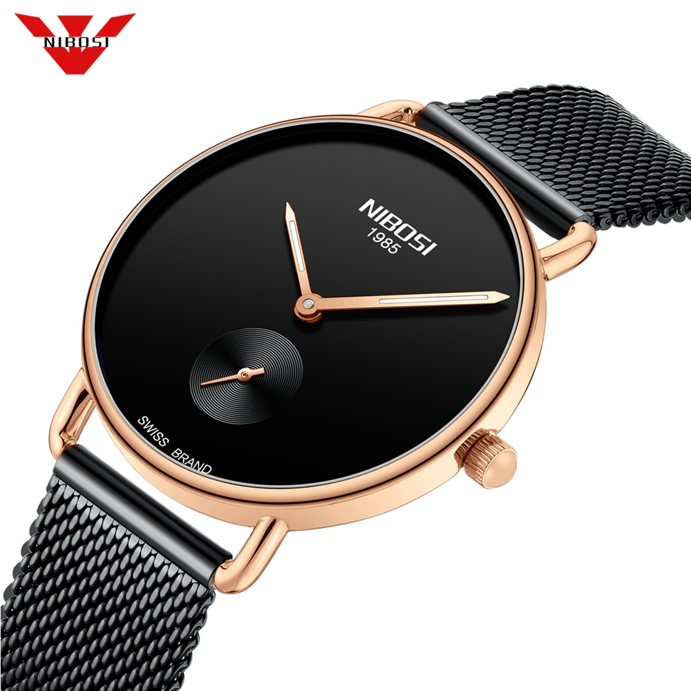 NIBOSI Reloj Mujer Women Watches Ultra Thin Quartz Mesh Ladies Watch Top Brand Luxury Casual Clock  Wrist Watch Relogio Feminino