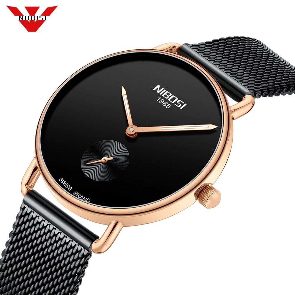 NIBOSI Reloj Mujer Women Watches Ultra Thin Quartz Mesh Ladies Watch Top Brand Luxury Casual Clock  Wrist Watch Relogio Feminino