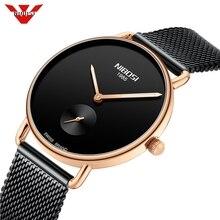 NIBOSI Reloj Mujer Women Watches Ultra Thin Quartz Mesh Ladi