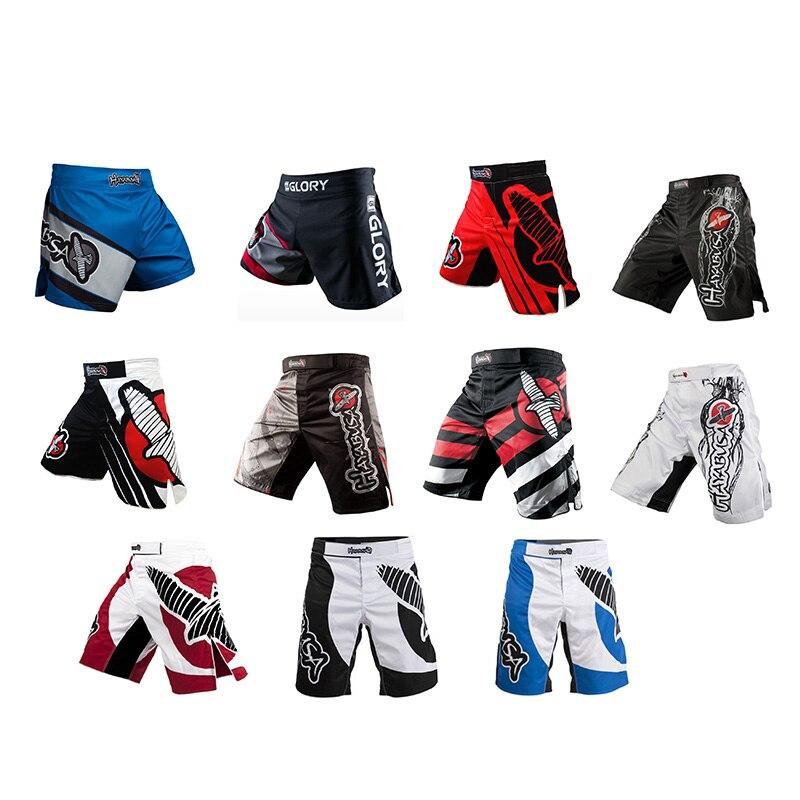 Calças de Treinamento de Boxe MMA Muay Thai Calções De Boxe Combate Sanda Kickboxing Calças Calções Desportivos MMA Formação de Curta Duração