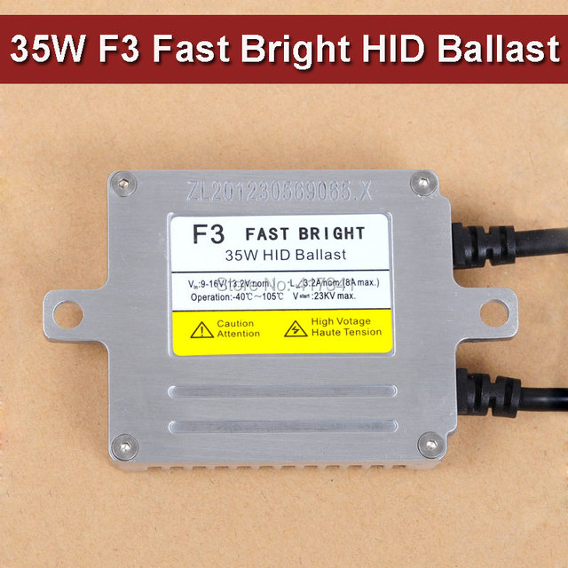 Cool Car 35W 12V High Quality AC Fast Start up Slim HID Bi Xenon Ballast F3 Photo - Popular light ballast replacement Luxury