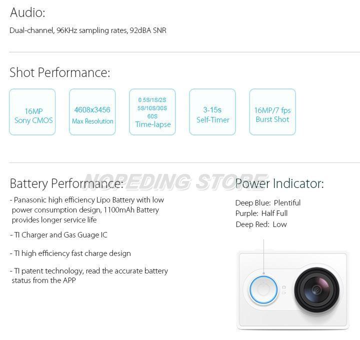 Xiaomi Xiaoyi WiFi Action Camera 16MP 60FPS Ambarella 184850 13