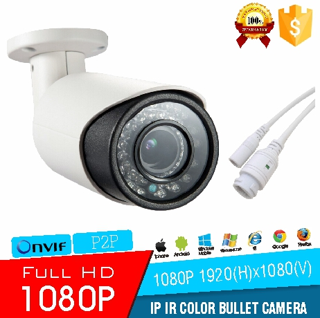 IP Varifocal Lens Bullet 1080P Camera H.264 2.0MP Full HD Infrared Color Sony Cmos Bullet CCTV Camera Wtih ONVIF2.4 Night Vision