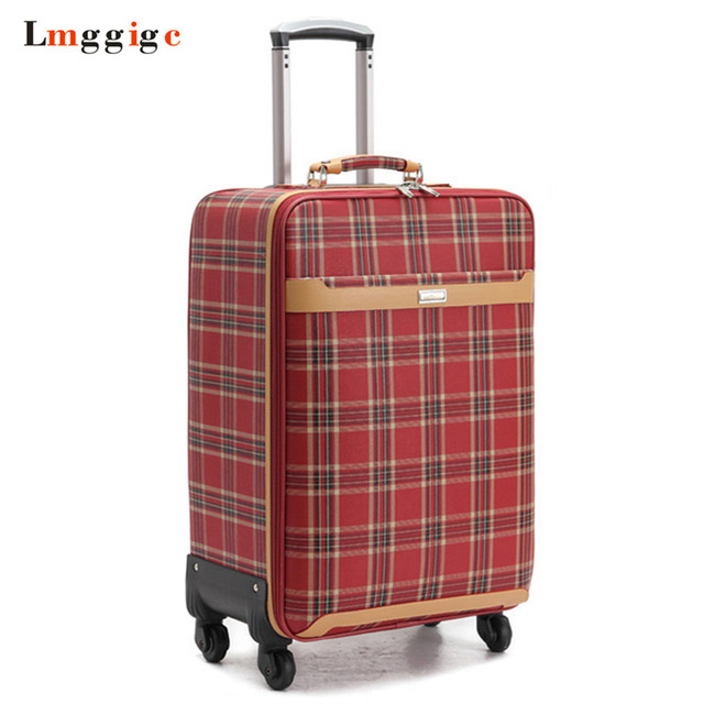 d5362edd6 Girl's Rolling Luggage ,PU leather bag,High quality Travel Suitcase,Rolling  Box,Women Trolley with Wheel,New Carry-On Case