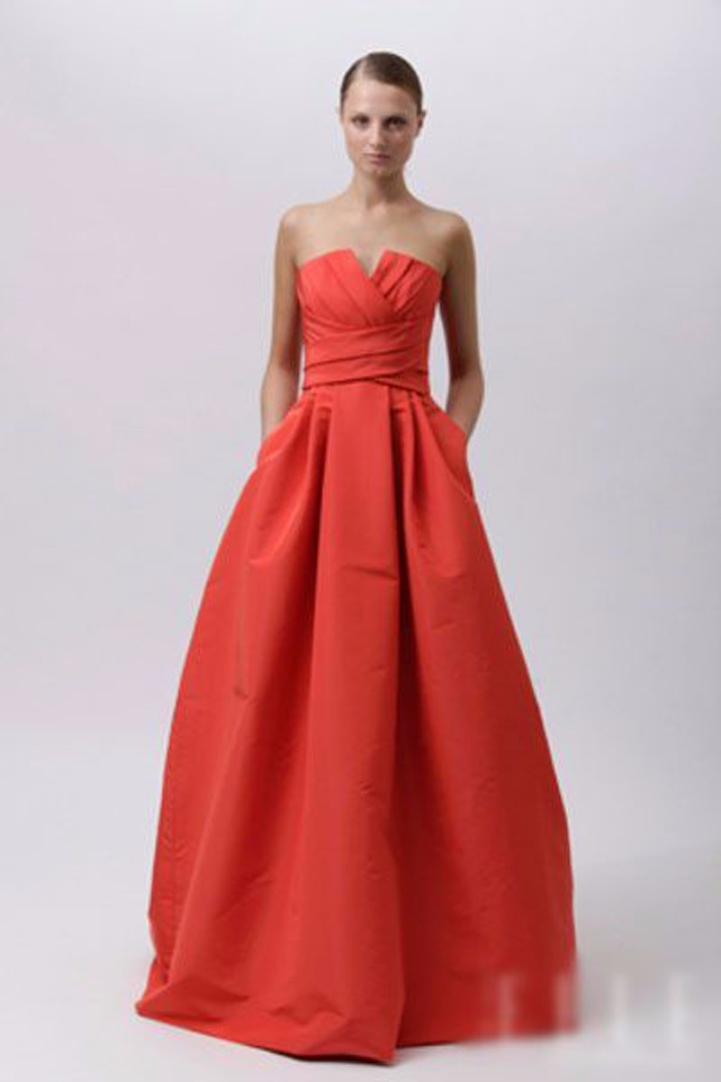 Women Formal Prom Gown Robe De Soiree Elegant Off The Shoulder Strapless Sleeveless Long A Line Red 2018 Bridesmaid Dresses