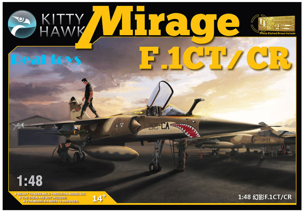 Kitty hawk KH80111 1/48 Mirage F.1CT/CR plastic model kit lanxiang mirage 2000 kit mirage kit