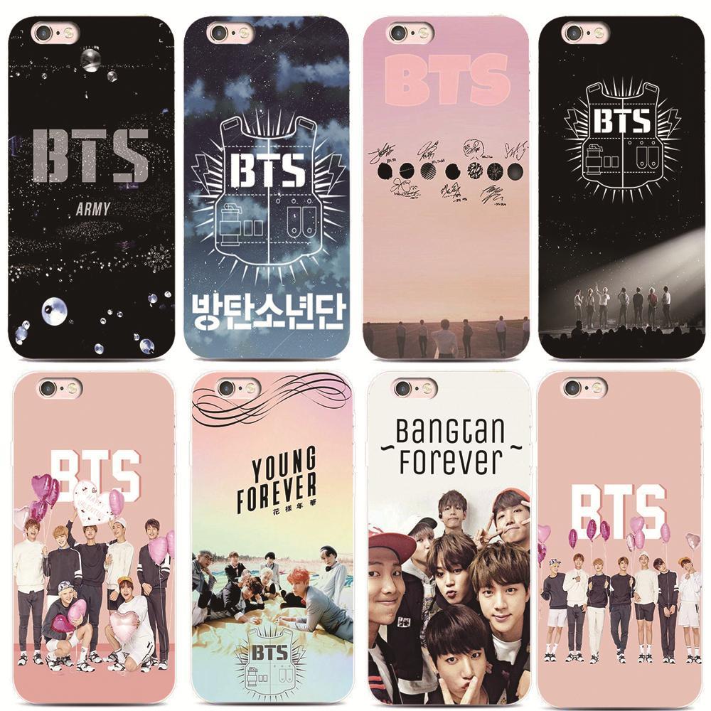 Bangtan BTS Boys Phone Cover For iPhone 7 7Plus 5S 6S Samsung Galaxy S8 Plus A5100 A7100 S5 S7 S6 Edge ard plastic phone shell