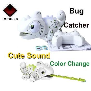 2.4CHz RC Robot Dinosaur Toys Chameleon Pet Changeable Light Remote Control Electronic Model Animal Intelligent Robot Kit Toys недорого