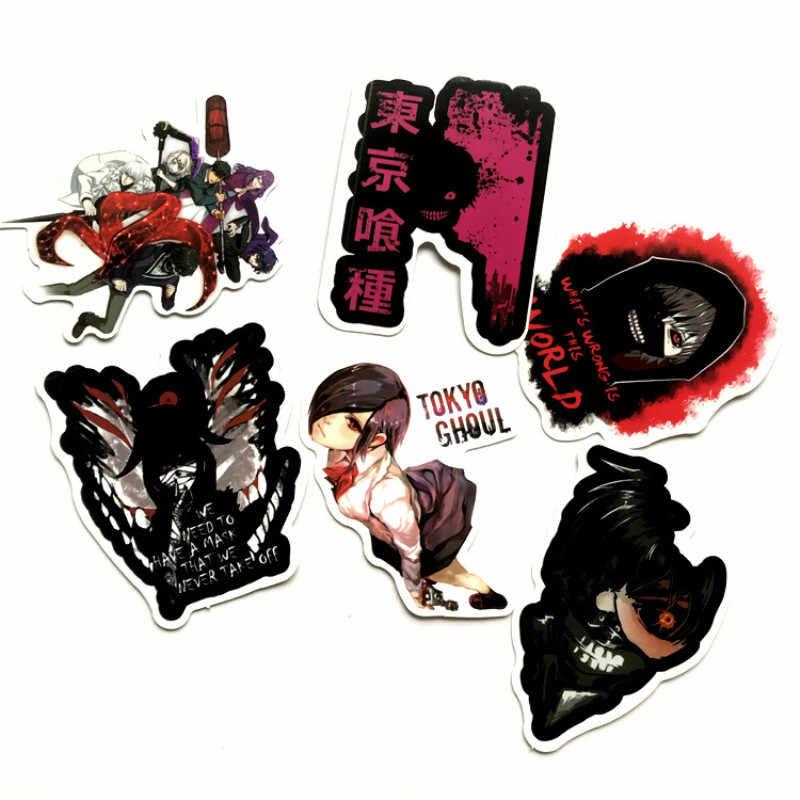 50 ピース/バッグ東京グールホラーアニメステッカーパックスクラップブックスーツケーススケートボードのラップトップのステッカーパック落書き防水ステッカー