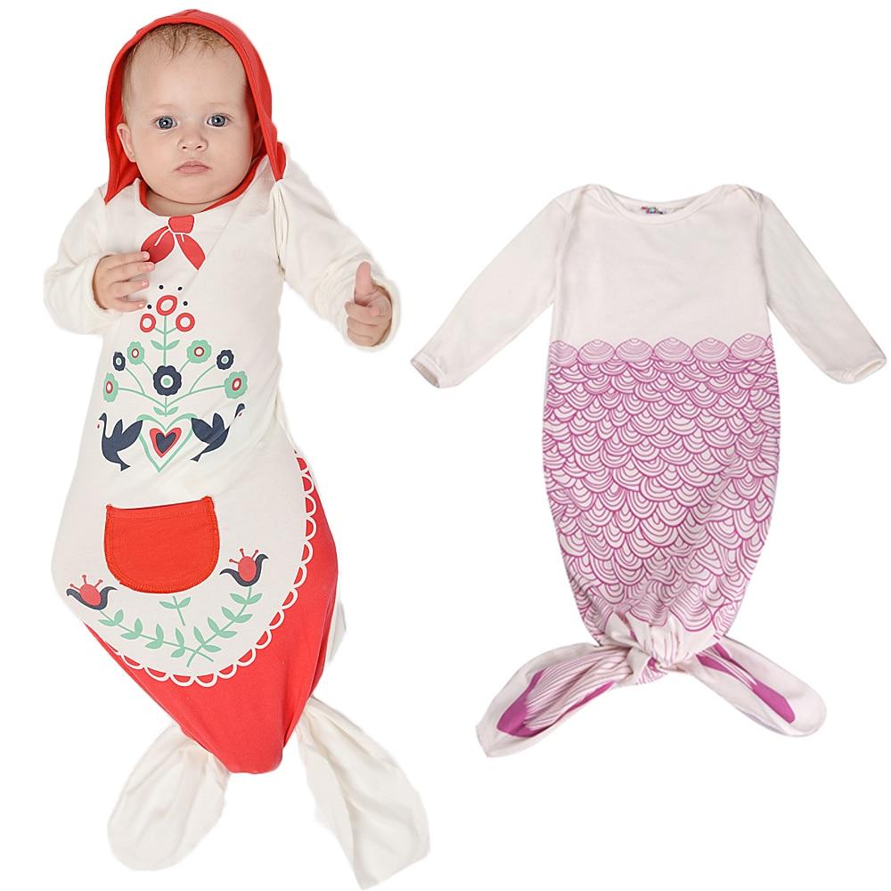 2017 Mermaid Baby Sleeping Bag Spring-Summer Bebe Boy Girl Pajamas Sleep Sacks Infant Newborn Stroller Bed Swaddle Blanket Wrap