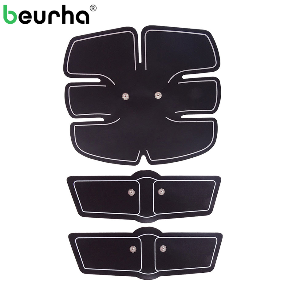 3PCS EMS Abdominal Muscle Exerciser Training Pads ABS Stimulator Fitness Gym Stickers for Body Loss Slimming Massager Unisex fitness padded gravity boots safety locking mechanism ankle hooks abdominal workout training hang up ab gym equipment