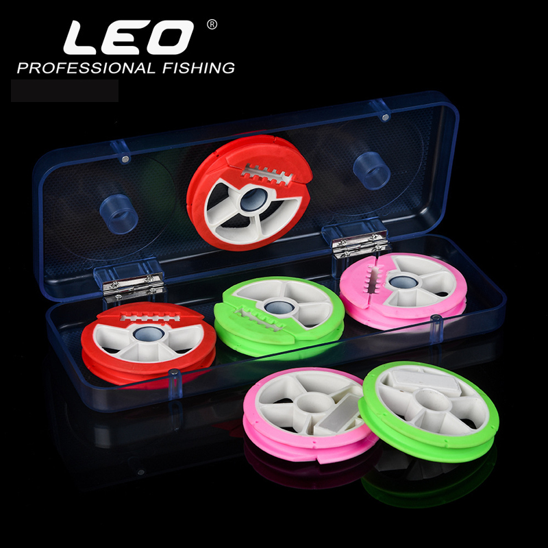 leo 8 Axis Fishing Main Line Bobbin Spools Tackle Plastic ABS Storage Box Case New Color