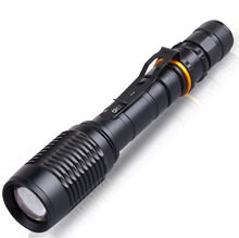 powerful led flashlight Zoom 5000LM lantern XM-L2 LED Lighting Tactical Police LED Flashlights Torches zoomable Bike lights