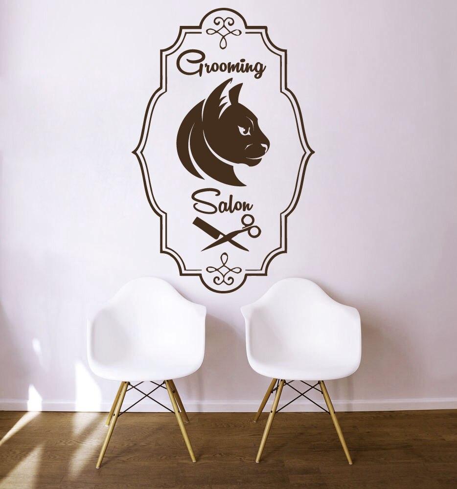 Wall Decals Grooming Salon Decal Vinyl Sticker Cat Pet Shop Bedroom
