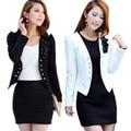 Women Lady Tops Slim Suit OLFlower Short Coat Jacket XL XXL