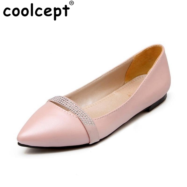 Size 30 49 Las Flat Shoes Women Slip On Pointed Toe Flats Casual Office