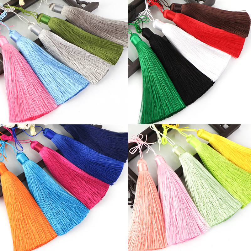1pcs 12cm Silk Tassel Fringe brush Hanging rope tassels fringe Trim Sewing accessories tassels pendant for curtains jewelry diy in Tassel Fringe from Home Garden